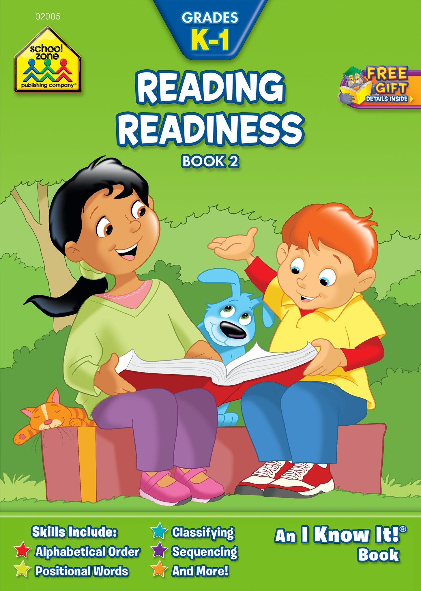 School Zone - Reading Readiness Book 2 Workbook - Ages 5 to 6, Kindergarten to 1st Grade, ABC Order, Positional Words, Numbers, Rhyming, and More (School Zone I Know It!® Workbook Series)